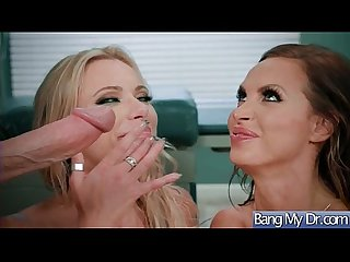 Slut Patient (Briana Banks & Nikki Benz) Seduce Doctor For Hard Sex Action movie-08