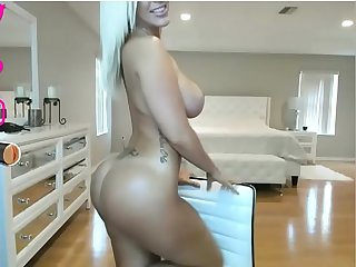 Amazing Blondie Shows Her Big Tits And Ass On Webcam