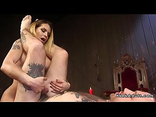 Big tits dominant tranny anal fucks dude