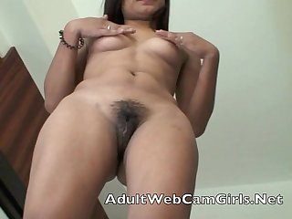 Asian Filipina.Webcam chat girl gets naked and shows her wet pussy