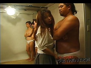 Bukkake Highschool Lesson 8 2/4 Japanese uncensored blowjob
