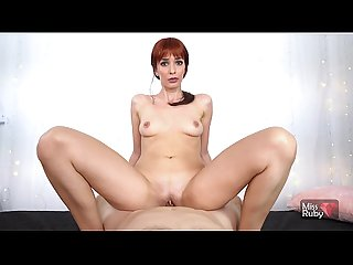 Redhead Teen Takes A Huge Facial After Hot POV Sex