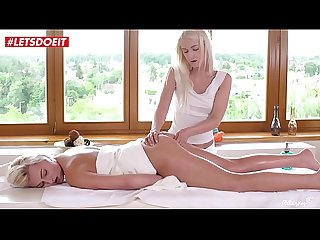 LETSDOEIT - Massage Model With Hottest Ass Fingered by Lesbian Teen (Katy Rose & Ashley..