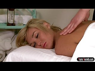 Ts Aubrey Kate sees her massage turning into passionate sex