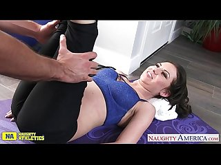 Small titted athlete Kendra Khaleesi take cock
