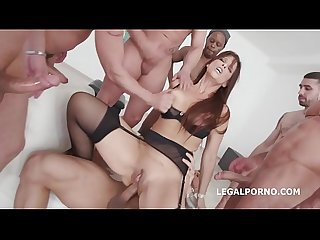 Unbelievable 7on1 Balls Deep Anal & DAP Gangbang with Syren De Mer